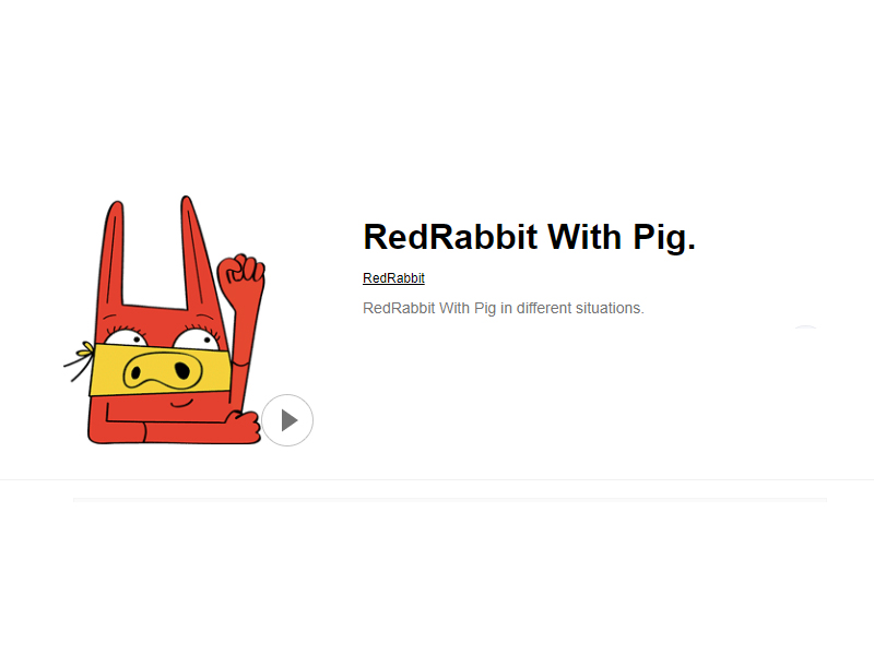 RedRabbit With Pig.LINE STORE